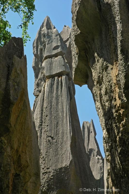 Karst spires soar at the Stone Forest - ID: 10270126 © Deborah H. Zimmerman