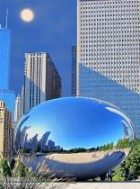 Cloud Gate Sculpture in Chicago
