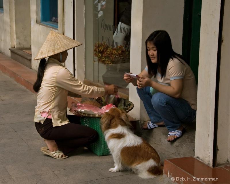 Buying lunch in Hanoi Old Quarter - ID: 10318884 © Deborah H. Zimmerman