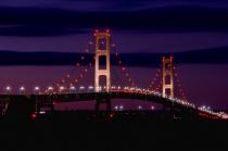 Twilight at Machinac Bridge