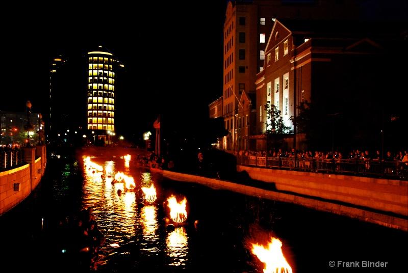 Waterfire Celebration; Providence, RI - ID: 10343291 © Frank Binder