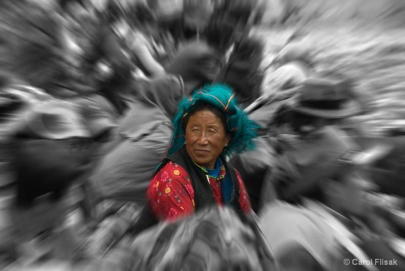 Center of the Crowd ~ Reting Monastery, Tibet - ID: 10347779 © Carol Flisak