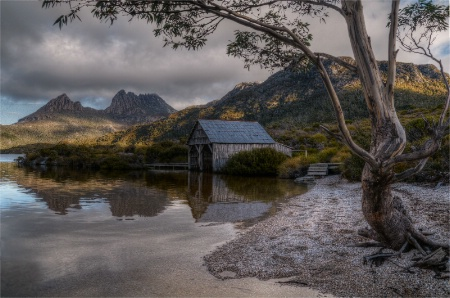 The Boatshed on Dove Lake.