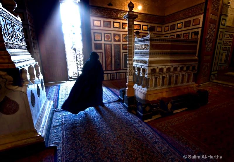 Inside Refai Mosque in Cairo
