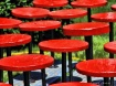 Red Circle Chairs