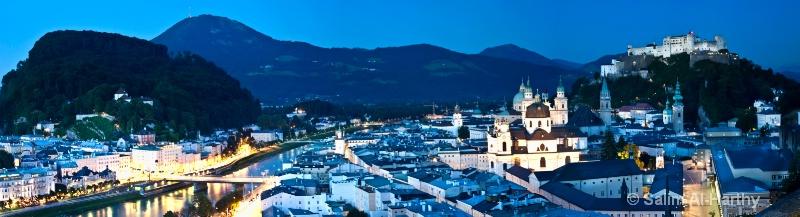 Salzburg (Blue Hour) - Panoramic