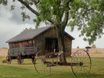 Antique Farm Implements:  at Barn #2