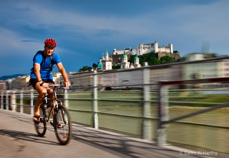 Cycling away in Salzburg