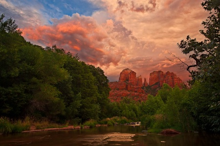 Monsoon Sunset Over Cathedral Rock