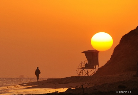 Sunset Over Crystal Cove State Beach, CA