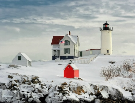 Early In The Morning At Nubble Lighthouse