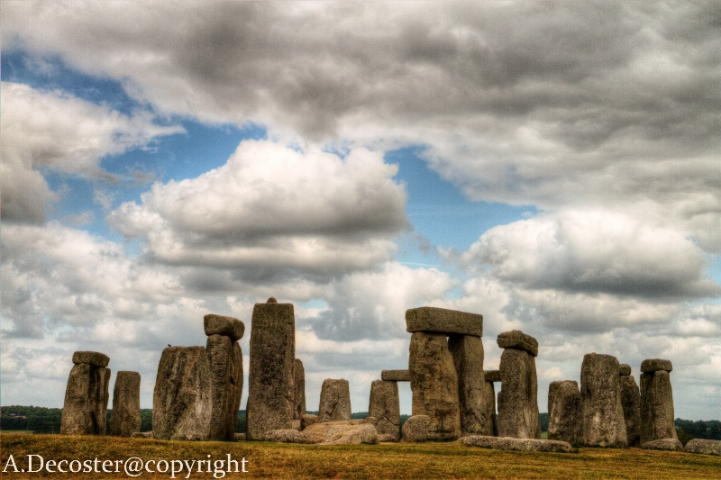 Dramatic sky at Stonehenge