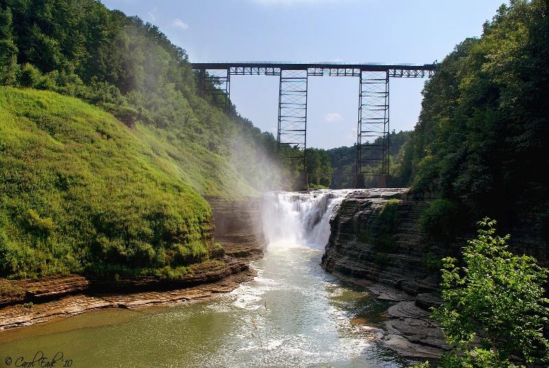 Letchworth Upper Falls - ID: 10653327 © Carol Eade