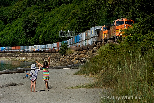 Passing Train - ID: 10655395 © Kathy K. Whitfield