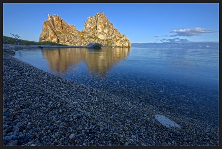 Morning on the Baikal Lake