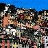© gwen feasel PhotoID # 10693272: Riomaggiore Houses Art