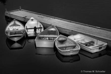 """5 Dinghy's""  ~ B&W treatment"
