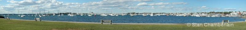 Newport Harbor Panorama - ID: 10718369 © Stan Chamberlain