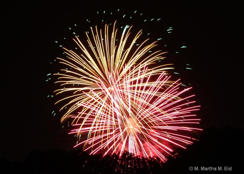 Fireworks Over Nomahegan Park - ID: 10718723 © M.  Martha M. Eid