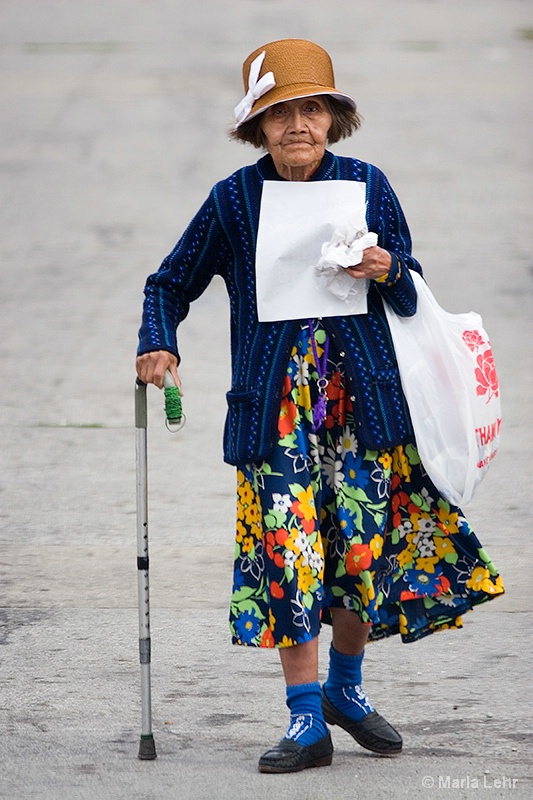 Old Woman Shopping