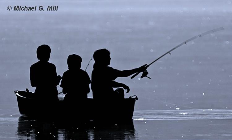 Three Boys Fishing