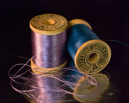 Purple and Blue Thread