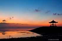 Sanur beach at dawn
