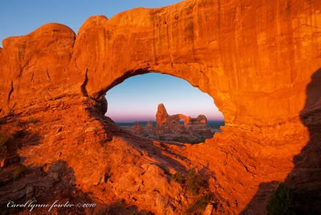 Morning at Turret Arch