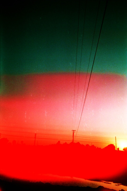 sunset with a disposable