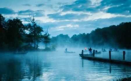 Gathering of fishermen