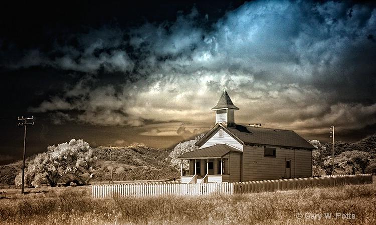 Old San Simeon Schoolhouse - ID: 10877359 © Gary W. Potts