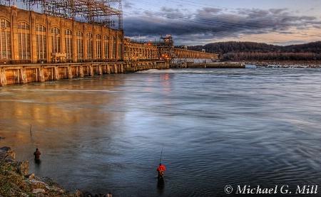 Fishing by the Dam / Conowingo Hydrostation