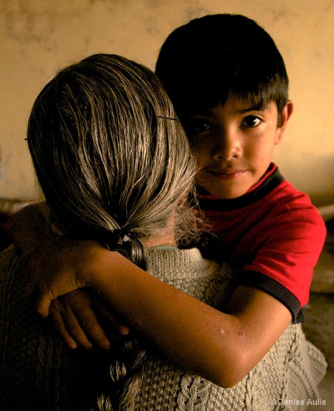 Pedro Hugging His Grandma - ID: 10931123 © Denise Aulie