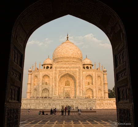 Taj through the arch