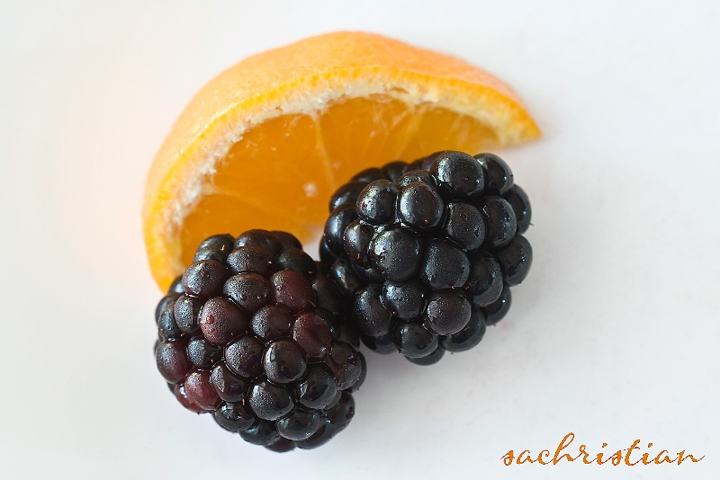 Clementine and Blackberries