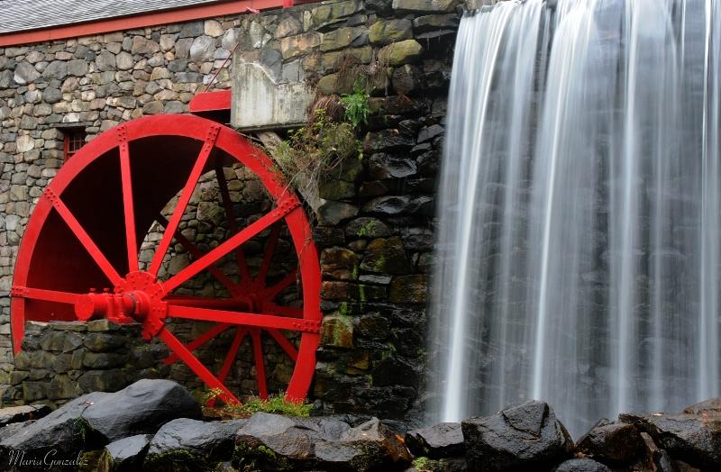 Red Wheel Of Sudbury Mill