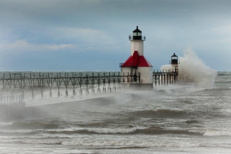 Waves O'er the Pier