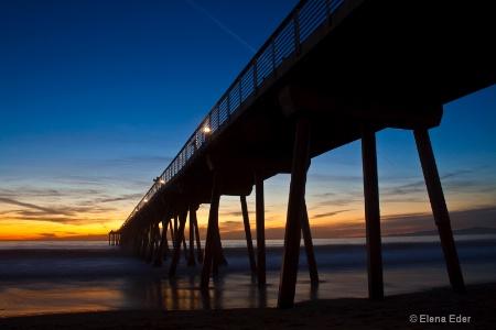 Hermosa Beach Peer -  Dusk