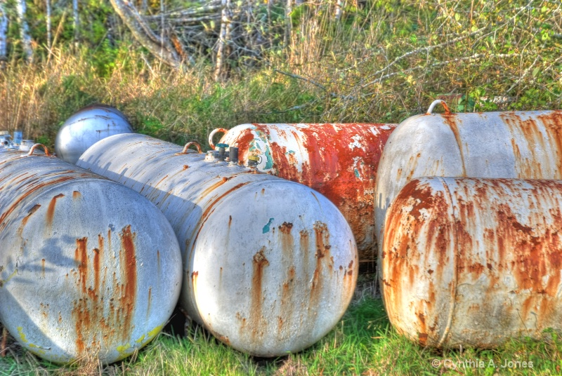 Discarded Propane Tanks
