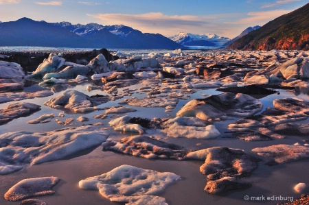 Knik Glacier at sunset