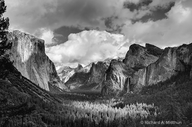 Classic Tunnel View with Clearing Storm