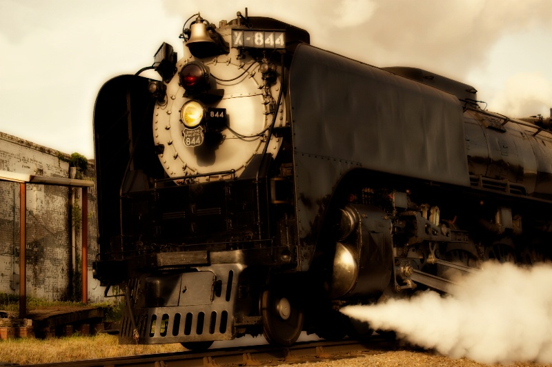 Number 844 keeps on rolling down the tracks