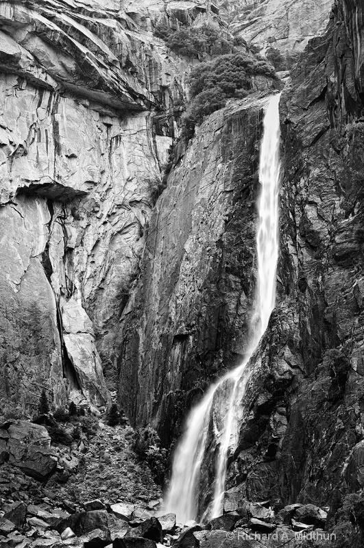 Lower Yosemite Fall on a Rainy Morning