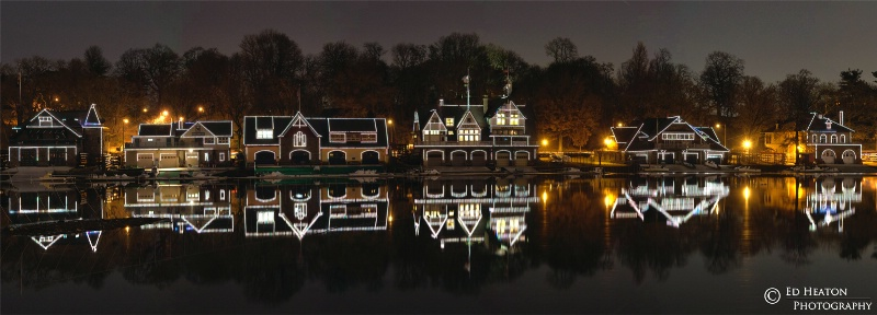 Boathouse Row - (6 image vertical panoramic)
