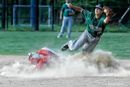 Play at second base