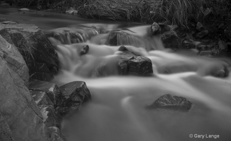 Creek in B&W