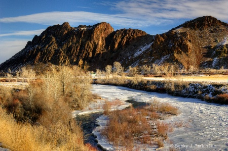 The Mostly Frozen Salmon River