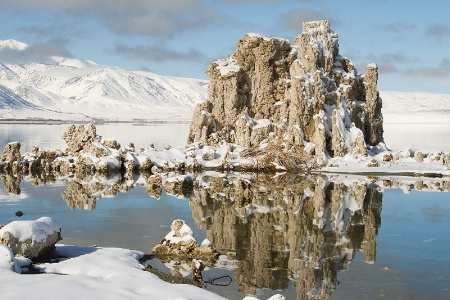 Mono Lake Tufa and snow