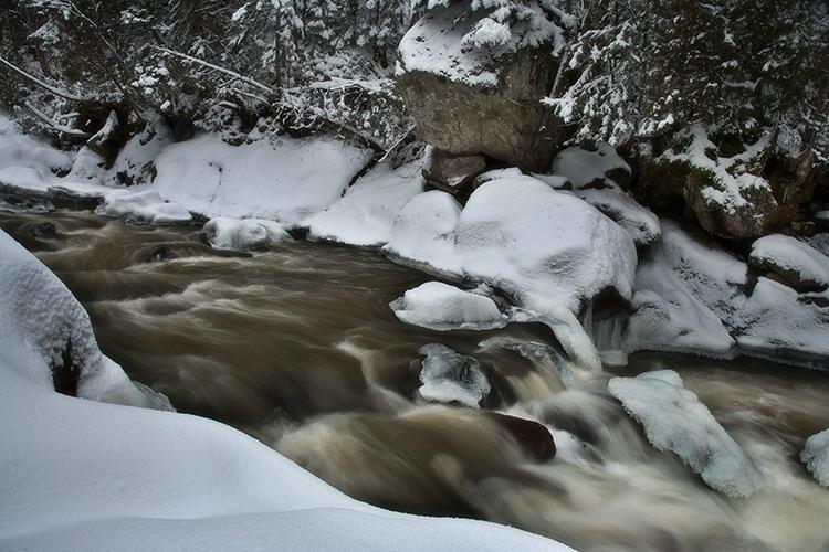 The river runs through.