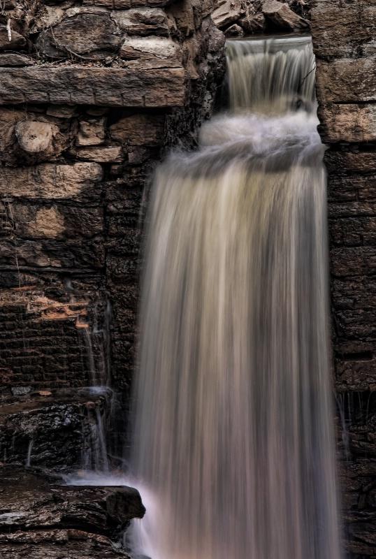 Waterfall in sepia